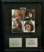 THE BEATLES - LET IT BE   -   Framed LP Cover